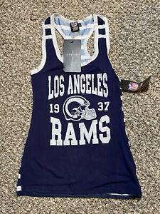 NEW Los Angeles Rams - NFL Women's Jersey - Tank Top Mesh Shirt - Small