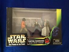 Star Wars The Power of the Force Cantina Showdown - 3 Action Figure Set - New!