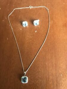 925 sterling silver earings and necklace set