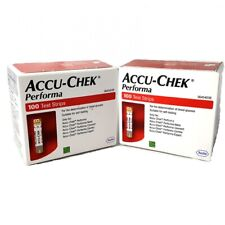 Accu Chek Performa 100 Glucose Blood Test Strips Exp August/2020 or Later USA