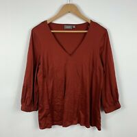 Sussan Womens Top Size Small Long Sleeve Brown Good Condition
