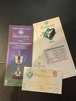 PILKINGTON CUP - HARLEQUINS V NORTHAMPTON PROGRAMME - INC TICKET & RESULTS - VGC