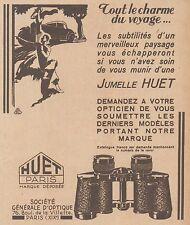 Z8527 Jumelle HUET - Paris - Pubblicità d'epoca - 1931 Old advertising