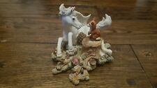 RARE ROYAL DOULTON FABLES FONDNESS  UNICORN AND FOX NICE ORNAMENT