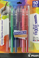NEW Pilot FriXion Eraseable Gel Pens Assorted Colors 10 Pens 32454 FREE SHIP!