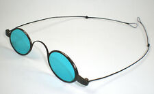 Antique ca. 1860's Spectacles with Blue Green Lenses & Folding Temples ~ Vintage