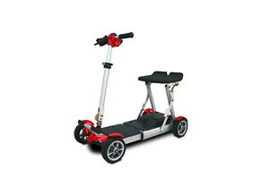New EV Rider Gypsy Folding Travel Mobility Scooter, Red