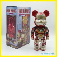 NEW 400% Bearbrick Iron Man Violent BE@RBRICK Action Figure {High Quality}