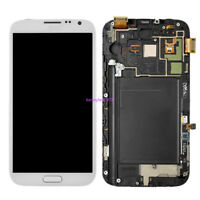 Écran LCD Pour Samsung Galaxy Note 2 N7105 Vitre Tactile Châssis+Outils Blanc