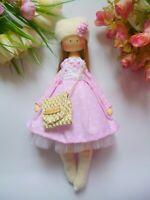 Textile doll, Handmade doll, Tilda dolls, ballerina doll, Fabric Doll, gift doll