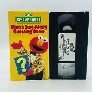 Sesame Street, Elmo's Sing-Along Guessing Game, 1991, VHS