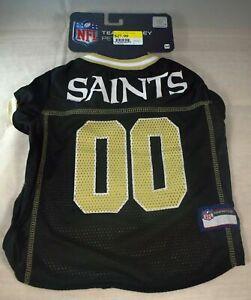 Licensed NFL - New Orleans Saints Team Jersey - Black (Pet, Dog) Large (L)