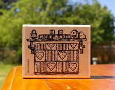 """I Heart Country Wood Mounted Rubber Stamp 1993 by Stampin' Up! 3 3/4"""" x 3"""" x 1"""""""