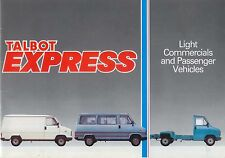 Talbot Express 1984-1985 Original UK Sales Brochure Van Cab Bus & Cargo C9660