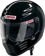Simpson Outlaw Casco Snell m2015 Negro Brillante M Mediano De 58 Cm 7 1/4