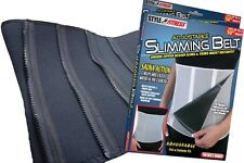 Adjustable Black Slimming Belt Sauna Zip Body Wrap Weight loss Exercise Fitness