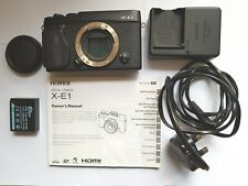 FUJIFILM X-E1 CAMERA BODY ONLY BOXED PLUS  BATTERY CHARGER LEAD BATTERY MANUAL