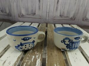 ma hadley mini cup mug handle espresso coffee tea sheep pig country animal set