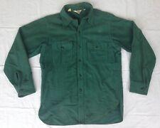 Vtg Woolrich Cotton Work Shirt Button Up Green Teal Machining Welding Shop
