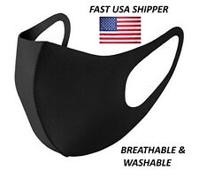 [5 Pack] Black Face Masks, Breathable, Washable, Fast USA Shipper