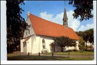 BÜSUM Nordsee Heilbad um 1975 St. Clemens Kirche color Postkarte gebraucht