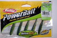 "berkley powerbait hollow belly 3"" split tail fire tiger hbst3-ft 5 pr firetiger"
