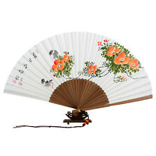 Fächer Bambus Handfächer Papier Wand Dekor Holz Japan Korea