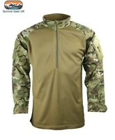 UBACS TACTICAL BTP CAMO LIGHT WEIGHT FLEECE ARMY STYLE PULLOVER TOP AIRSOFT