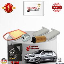 Filtres Kit D'Entretien + Huile Peugeot 308 II 1.6 HDI FAP 85KW 115CV Du 2015->
