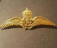 9k carat solid Gold RAF air force lapel pin sweetheart brooch pin wings WW2