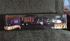 Hot Wheels  KISS Destroyer Purple Tour Hauler Truck by Mattel Sealed  NOS