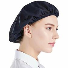 5 Unisex Chef Hat Cap Mesh Kitchen Cooking Protective Working Elastic Net Blue