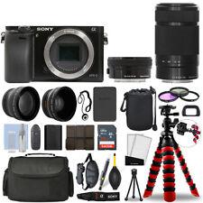 Sony Alpha a6000 Camera Black + 16-50mm + 55-210mm 32GB Multi Lens Bundle