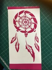 Dreamcatcher DECAL Hot Pink vinyl SIZE 170MM BY 97mm