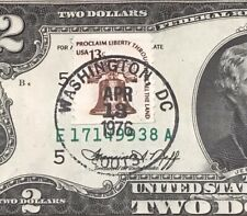 1976 $2 TWO DOLLAR BILL ( Richmond ) Stamp Washington DC , UNCIRCULATED