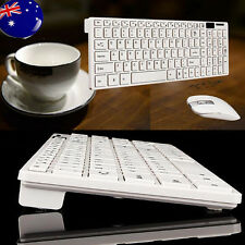 Slim 2.4GHz Wireless Keyboard and Mouse Combo Set For Desktop PC Computer