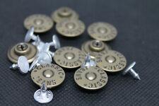 Knöpfe, Hosenknöpfe Metall, Rostfrei Nähfrei 16 mm Durchmesser in Brüniert
