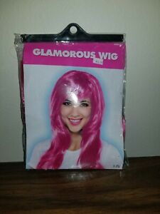 PINK GLAMOROUS WIG for ADULTS Halloween