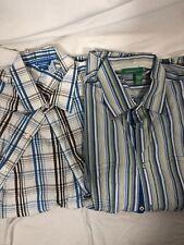 Rocawear Lot Of 2 Mens Short Sleeve Button Down XXL