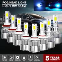 2Pcs H4 LED H7 H11 H8 9006 HB4 COB C9 Car Headlight 55W 8000LM 8000K Bulb Lamp