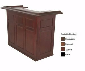 6' Home Bar w/ Wine Finish and Free Shipping