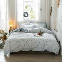 3D Blue Stripes Flower Leaves KEP2775 Bed Pillowcases Quilt Duvet Cover Kay