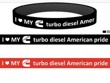Bundle of 2 I love my Cummins turbo diesel American pride silicon wristbands