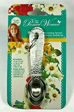 4 piece - The Pioneer Women Stainless Steel Measuring Spoon Set - Embossed - NEW