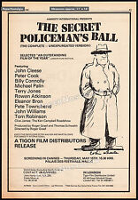 THE SECRET POLICEMAN'S BALL__Orig. 1980 Trade screening AD / poster__JOHN CLEESE