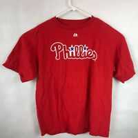Majestic Philadelphia Philles red t-shirt XL Cliff Lee # 33 MLB baseball