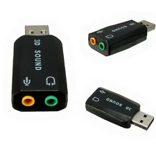 5.1CH 3D Audio Sound Card Adapter USB 2.0 to 3.5mm Mic Headphone Stereo Headset