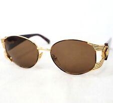 GIANNI VERSACE S64 sunglasses vintage brown gold oval medusa head baroque