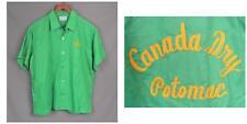 Vintage 1960s Hilton Top-Loop Green Bowling Shirt Sz.XL Canada Dry Potomac MD