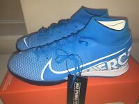 Nike Superfly 7 Academy IC Blue Hero/White Obsidian Trainers/Shoes, New